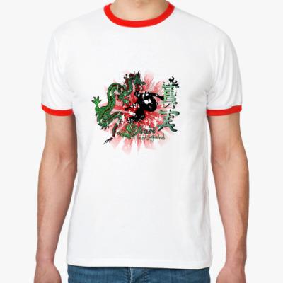 Футболка Ringer-T dragon skate