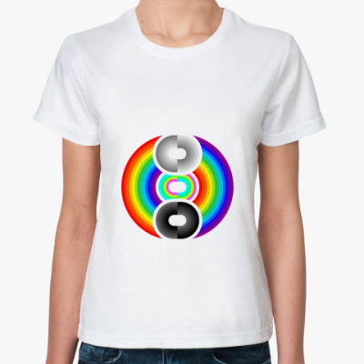 Классическая футболка Improved Rainbow