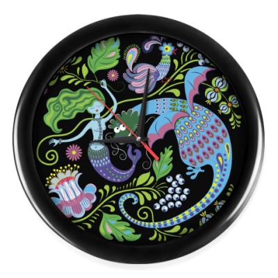 Настенные часы Русалка и дракон