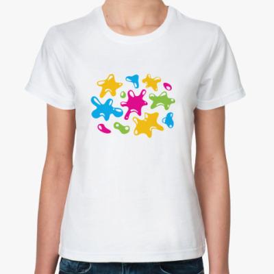 Классическая футболка Разноцветные фигуры