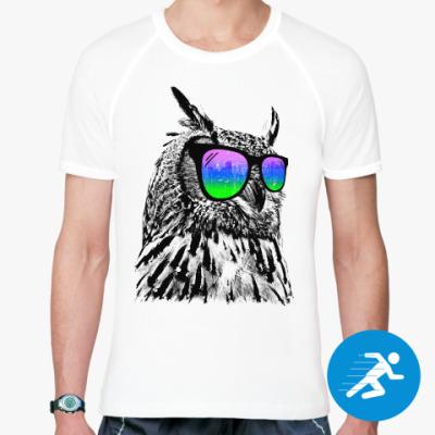 Спортивная футболка Сова в очках