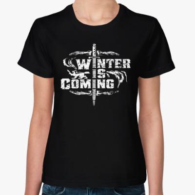 Женская футболка Игра престолов.Зима близко
