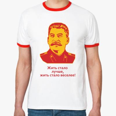 Футболка Ringer-T Сталин