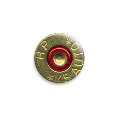 Значок 25мм Гильза от пистолета