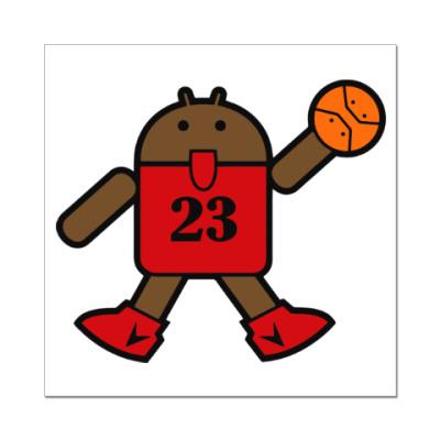 Наклейка (стикер) Jordan Android