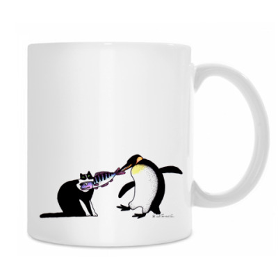 Кот и пингвин