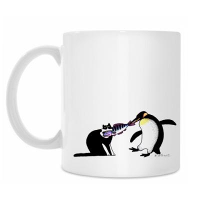 Кружка Кот и пингвин