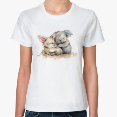 Классическая футболка Лис и коала