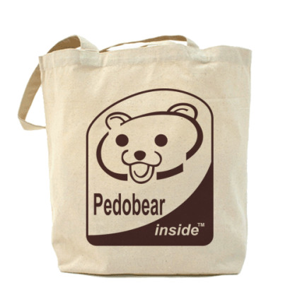 Сумка Холщовая сумка Pedobear inside