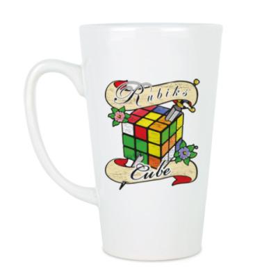 Чашка Латте Меч и Кубик Рубика