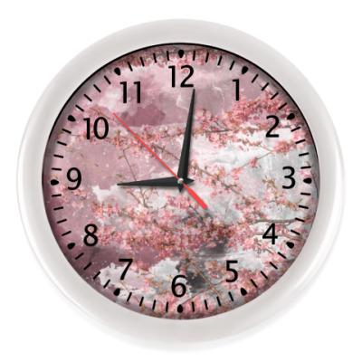 Настенные часы Японская сакура весной