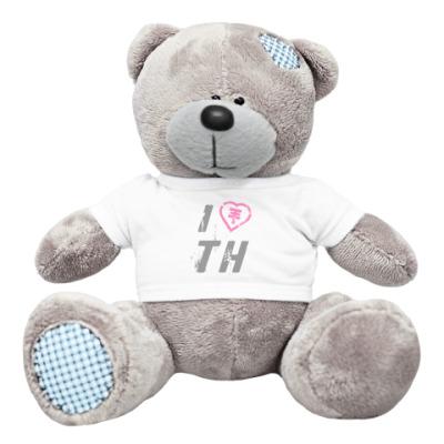 Плюшевый мишка Тедди I Love TH Мишка