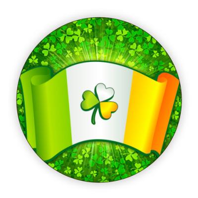 Костер (подставка под кружку) Ирландский клевер и флаг