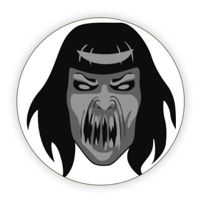 Костер (подставка под кружку) Одержимая демоном девушка