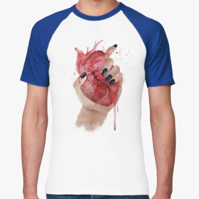 Футболка реглан Сердце в руке