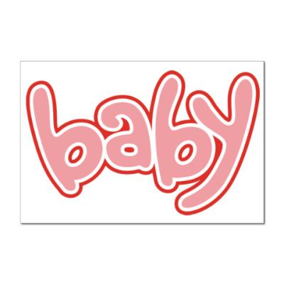 Наклейка (стикер) Baby