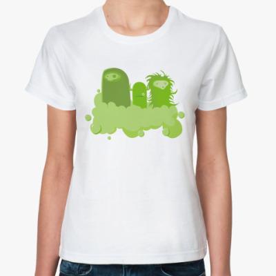 Классическая футболка Green worm
