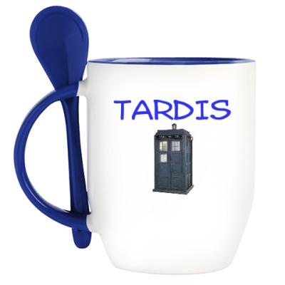 Кружка с ложкой Тардис