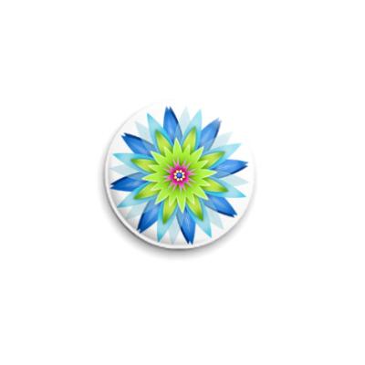 Значок 25мм Цветы