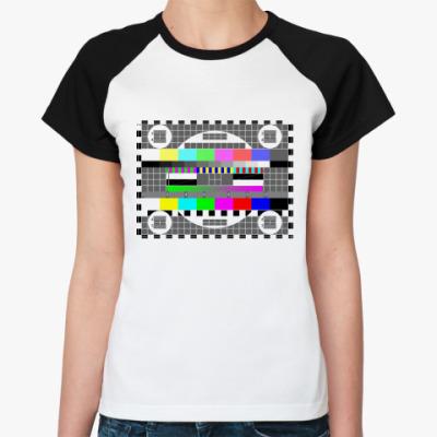 Женская футболка реглан Test Pattern