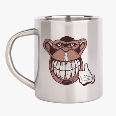Кружка металлическая Веселая обезьяна