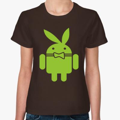 Женская футболка Андроид плейбой