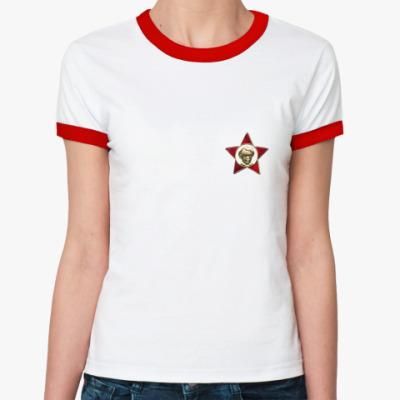 Женская футболка Ringer-T  Октябренок