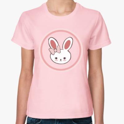 Женская футболка Зайка для влюблённых