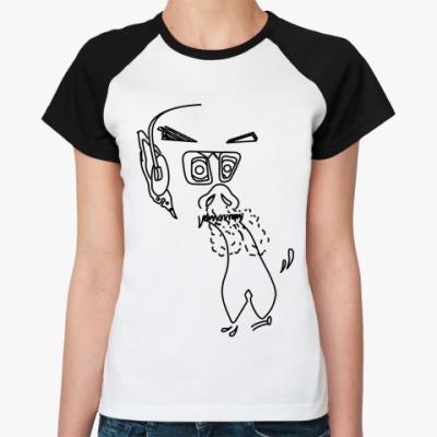 Женская футболка реглан Жесть с ушами