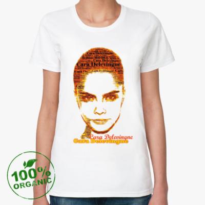 Женская футболка из органик-хлопка Cara Delevingne/Кара Делевинь