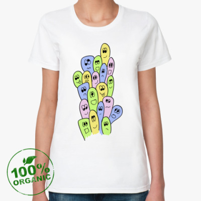 Женская футболка из органик-хлопка  'Чувачки'
