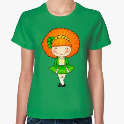 Женская футболка Рыжая ирландская девочка