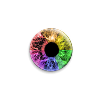 Значок 25мм  Rainbow Eye (OTH31)