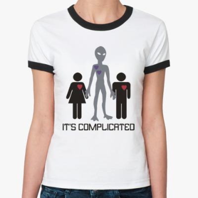 Женская футболка Ringer-T Всё сложно
