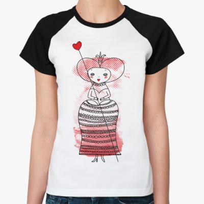 Женская футболка реглан Queen of Hearts, Alice's Adventures in Wonderland