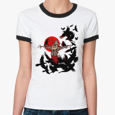 Женская футболка Ringer-T Пугало  Ж ()