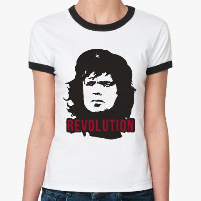 Женская футболка Ringer-T Тирион - Че Гевара
