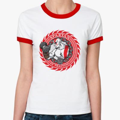 Женская футболка Ringer-T Спартанцы тренируются