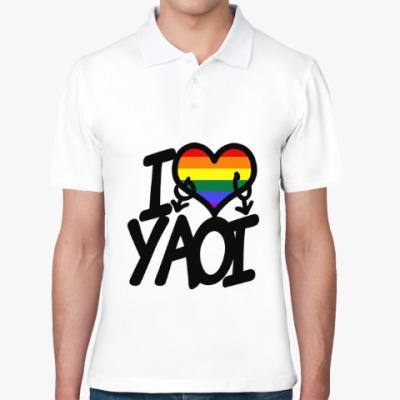 Рубашка поло I love yaoi (Boys' Love)