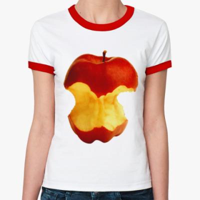 Женская футболка Ringer-T В яблочко!