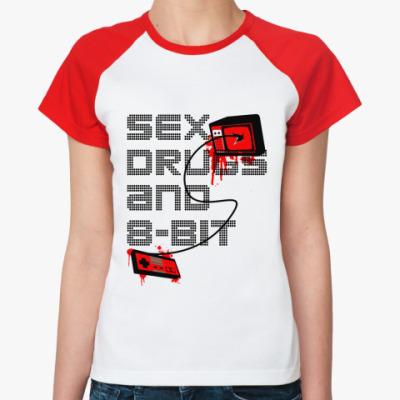 Женская футболка реглан 8-bit