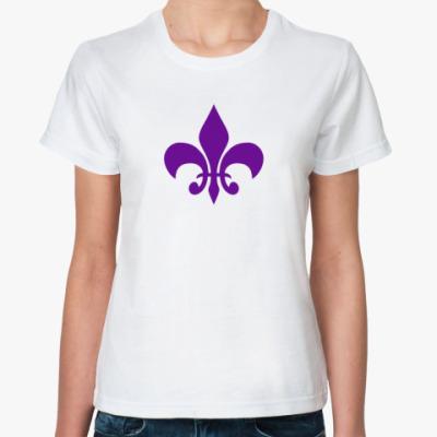 Классическая футболка символ лилии