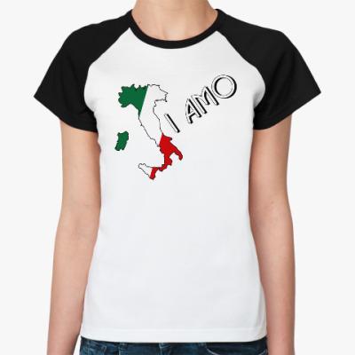 Женская футболка реглан Я люблю тебя по-итальянски