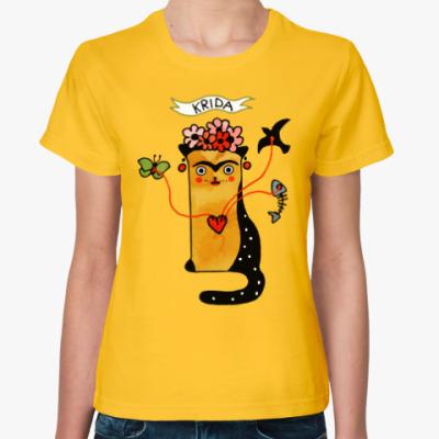 Женская футболка Krida из серии 'Art cats'