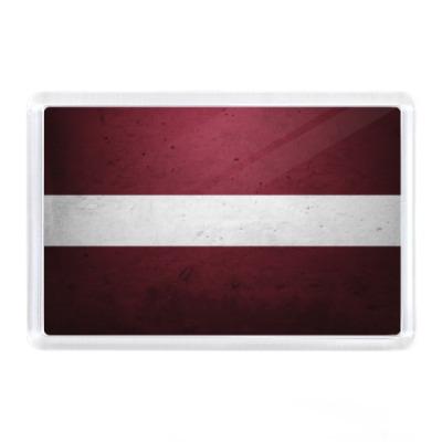 Магнит Латвия, флаг
