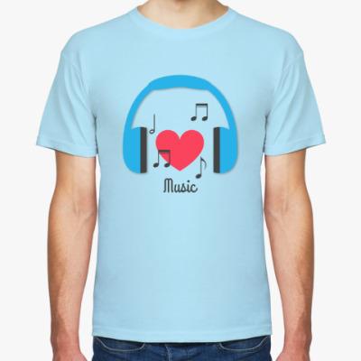 Футболка Люблю музыку