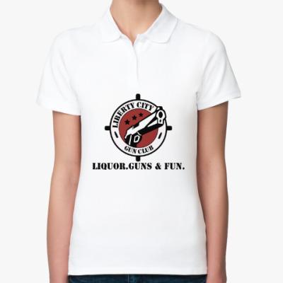 Женская рубашка поло Grand Theft Auto - Gun Club