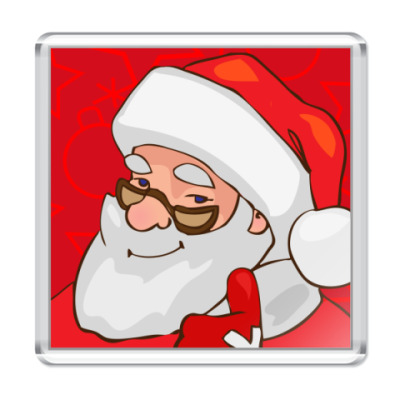 Магнит Дед Мороз, Санта