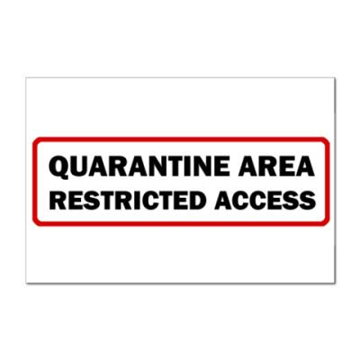 Наклейка (стикер) Quarantine Area