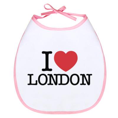 Слюнявчик I love London